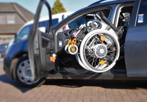 Rollstuhl Verladehilfe VW Selbstfahrer